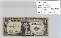 Us$1 Ticket Serie 1935 Tres Rare