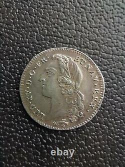 Very Rare 1/5 Ecu With Headband 1770 Besançon Louis XV Sup
