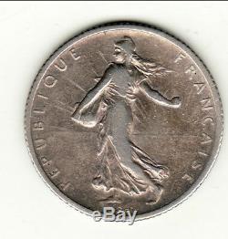 Very Rare 1 Franc Semeuse Silver 1900 Side Ttb 1100 Euro