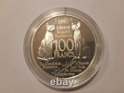 Very Rare 100 Francs André Malraux 1997 Silver Belle Test / Large Module 22,2g