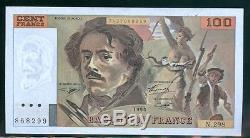 Very Rare 100f Delacroix Alphabet 298