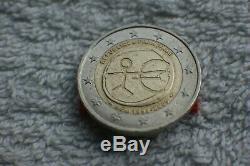 Very Rare 2 Euro Fautée U E M 1999-2009 Republique Francaise