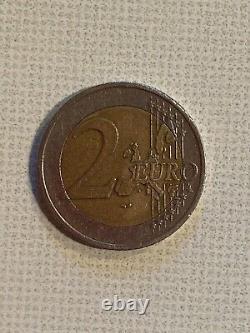Very Rare, 2 Euro Missed Austria 2002, 2 Euro Coin Stamp Error Austria 2002