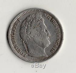 Very Rare 2 Francs Louis Philippe Silver 1831 W @ Lille @ Nice Quality @ Silver