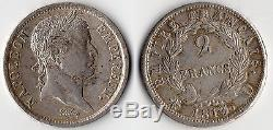 Very Rare 2 Francs Napoleon Empereur Silver 1813 D @ Lyon @ Quality @ Rare Top