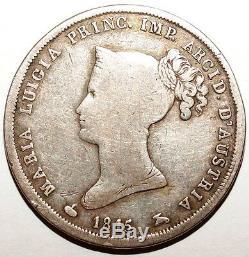 Very Rare 2 Lire Italy Parma 1815 Silver Print 22,125 (w210)