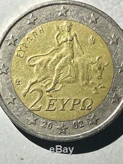 Very Rare 2002 Greek Coin 2 Euros Possessing S