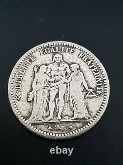 Very Rare 5 Francs Hercules 1848 D Silver A See