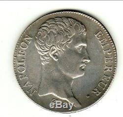 Very Rare 5 Francs Napoleon An 14 A Beautiful Portrait Sup