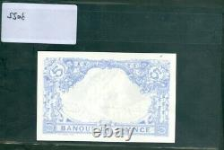 Very Rare 5f Blue Of 19/4/1912 In Sup+