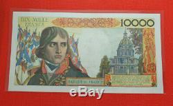 Very Rare! Air 10 000 Francs Bonaparte F51 F F 01.03.1956 Alph 010 (spl)