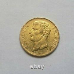 Very Rare And Beautiful Coin Of 20 Francs Gold An 12 A Napoleon Emp Variety Without Point
