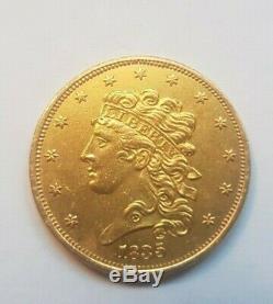 Very Rare And Beautiful Piece $ 5 Gold 1835 Philadelphia Liberty