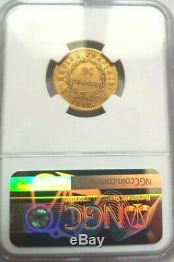 Very Rare And Beautiful Piece Of 20 Francs Or 1811 W Napoleon I Ngc Au58 Quality