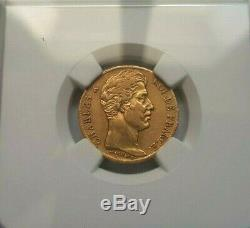 Very Rare And Beautiful Piece Of 20 Francs Or 1827 W charles X Xf45 Ngc
