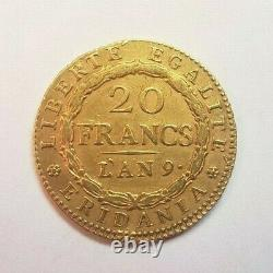 Very Rare And Beautiful Piece Of 20 Year Or Chf 9 Marengo Turin-center Strikes