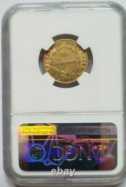 Very Rare And Very Beautiful 20-franc Coin Year 14 A Napoleon I Ngc Xf45