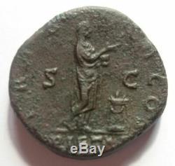 Very Rare Antoninus Pius Sestertius Sestertius Sesterz / Pietas