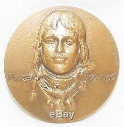 Very Rare Bronze Medal General Marceau By Christiane Idoux 1983