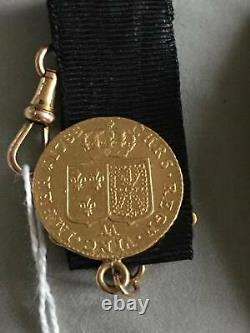 Very Rare Châtelaine Gold Louis D'or Louis XVI 1788 Aa Metz (13.4 G)