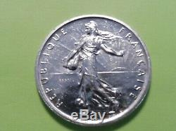 Very Rare Coin Silver Test 5 Frs Semeuse France 1959 A View Sup +