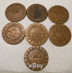 Very Rare Collection Medals Leclerc Koufra Ww2 By A. Jaeger Berchtesgaden