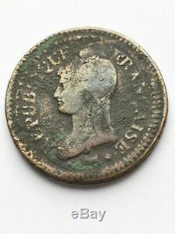 Very Rare Decimates Dupré 1 Year 5 A, Marianne Portrait Of 5 Cents Dupré