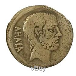 Very Rare Denarius Silver Roman Brutus Ahala Currency Side Room 1500