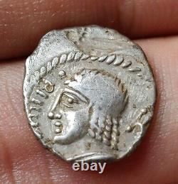 Very Rare! Denier Gaulois Belenoc At Temple, Silver, Celtic Corner Dt2658