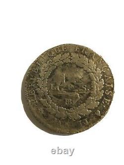 Very Rare Ecu Of 6 Pounds 1793 Bb Strasbourg Year 2 Constitution Au Genie