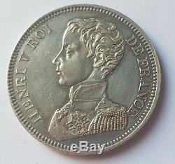 Very Rare Essai- 5 Francs Silver 1831 Henry V Test