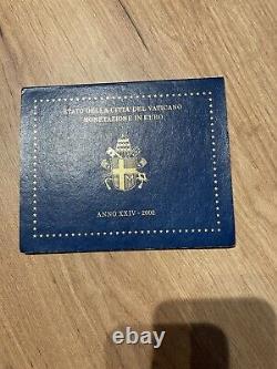 Very Rare Euro Series 2002 John Paul II Vatican Complete