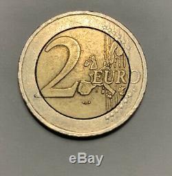 Very Rare, Fautée 2 Euro Austria 2002 2 Euro Coin Stamp Error 2002 Austria