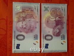 Very Rare Lot Of Billets Tourists Souvenirs 0 Euro 16 X No.00003 Of 2015