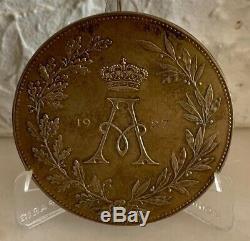 Very Rare Medal Albert 1st 1927 Belgian Écrin + Silver Silver Medal L @@ K