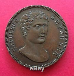 Very Rare Module Of 100 Francs 1807 Napoleon I Essay Of Vassallo Genoa Maz. 602 B