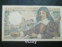 Very Rare No. 000005456 Seriea. 1.100fr Descartes 15/05/1942 Very Rarea. 1