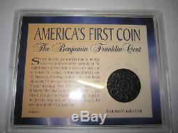 Very Rare Piece Fugio Hundred Case In America's First Coin Luck Good Luck