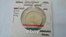 Very Rare Piefort 5 Francs Sower 1971 Silver 500 Ex Piedfort - Certificate