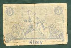 Very Rare Post Of 5 Francs Black 1872 B+