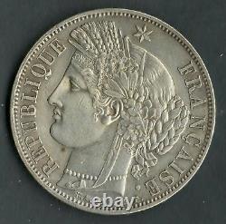 Very Rare Quality 5 Francs Argent Ceres 1849 In Paris