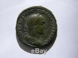 Very Rare Sesterce Gordian Ii, Sestertius, Sesterz, Sesterzio, Sestercio