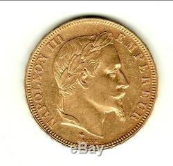 Very Rare Sup 50 Francs Or Napoleon III Laureate Head 1868 A