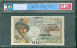 Very Rare Ticket Of 1 Nf On 50f Belain D'esnambuc Spl