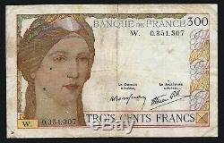 Very Rare Ticket Of 300 Francs Serveau In Letter W! Make Serious Offer