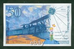 Very Rare Ticket Of 50 Francs St Exupery 018927397 Nine
