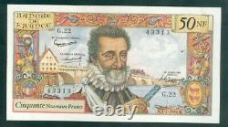 Very Rare Ticket Of 50nf Henry IV From 2 7 59 Spl