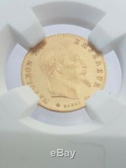 Very Sought Rare Condition Splendid 5 Francs Gold 900 Napoleon III 1866 A Spl