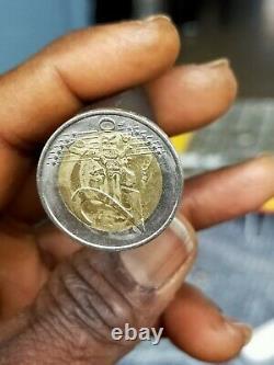 Very Very Rare Piece Of 2 Euros German 2002 Federal Eagle