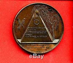 (d. 20) Token Freemason Memorial Revolution From 1830 (very Rare)